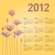 Royalty-Free Stock Photo: Stylish calendar with flowers for 2012. Week starts on Monday.
