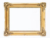 Wooden gold frame — Stock Photo