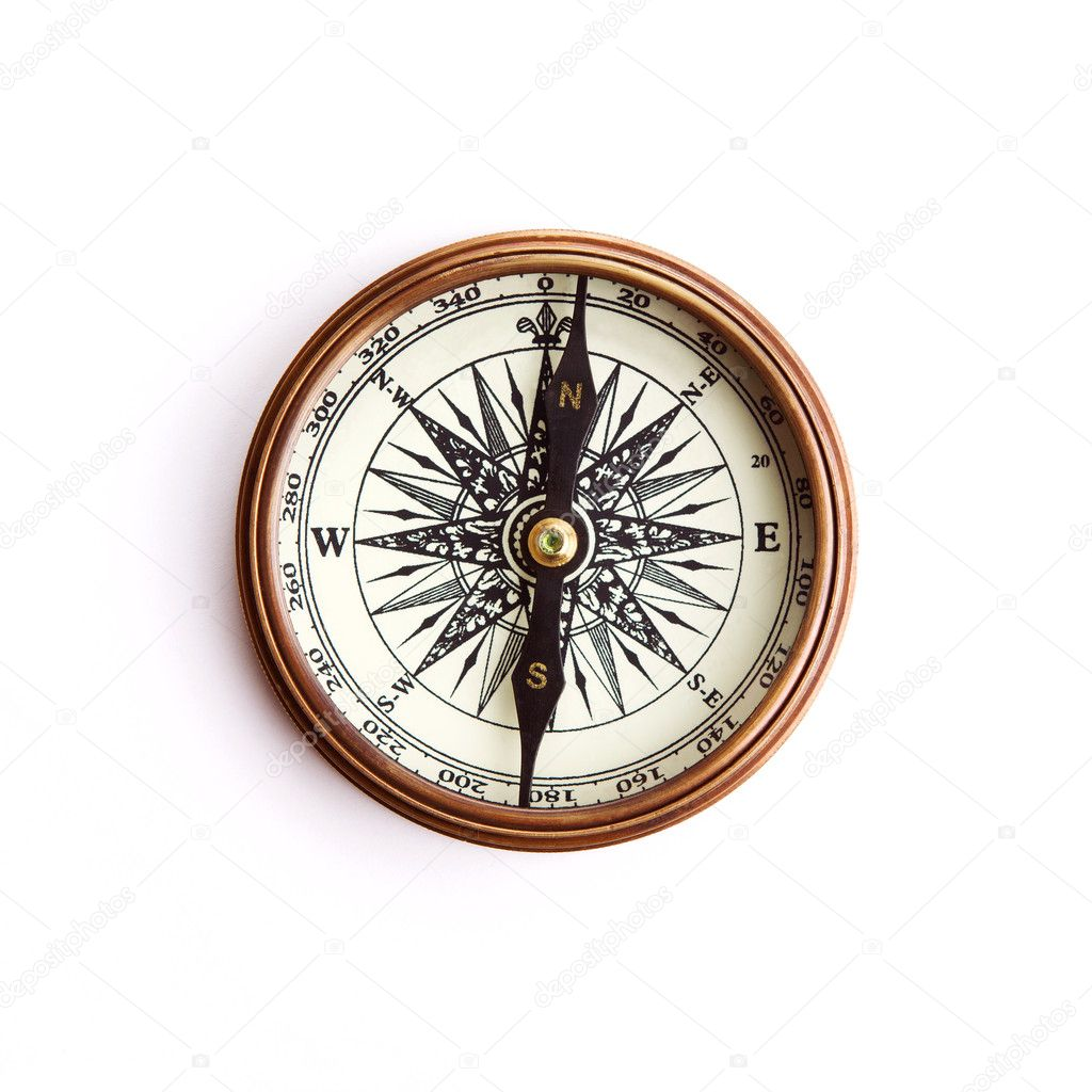 Isolated compass with path — Stock Photo #6018244