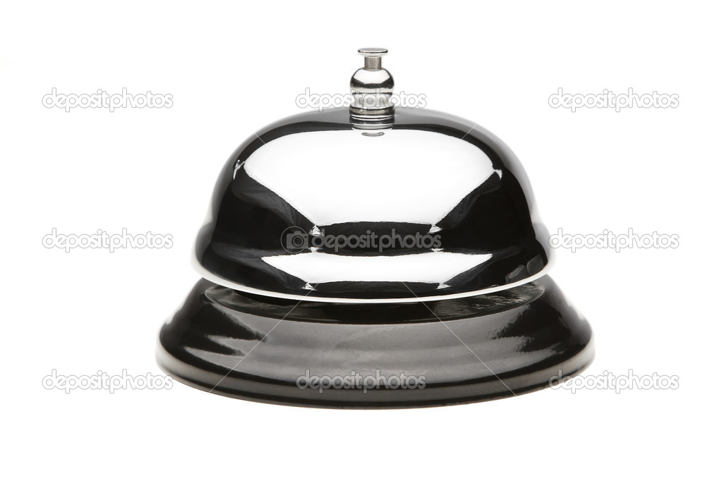 Service bell isolated on white with clipping path  Stock Photo #6143440