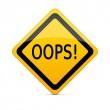 OOPS sign with clipping path — Stock Photo #6203377