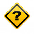 Question mark sign with clipping path — Stock Photo