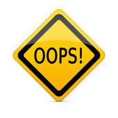OOPS sign with clipping path — Stock Photo