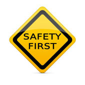 SAFETY FIRST sign with clipping path — Stock Photo