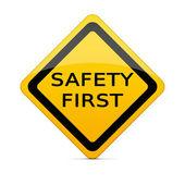 Primo segno di sicurezza con tracciato di ritaglio — Foto Stock