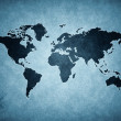 Grunge blue world map — Stock Photo #6413451