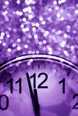 Purple New Year's abstract background — Stock Photo