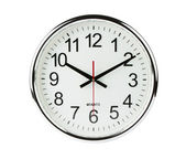 Clock isolated with clipping path — Stock Photo