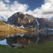 Lake Enol panoramic — Stock Photo