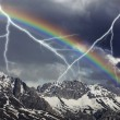 Storm rainbow — Stock Photo #5631930