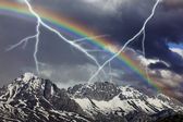Storm rainbow — Stock Photo