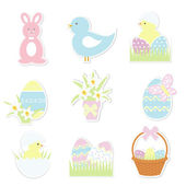 Easter icons set — Vector de stock