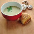 Garlic soup — Stock Photo