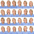 Different facial expressions - Stok fotoraf