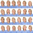 Different facial expressions - 图库照片