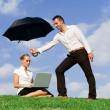 Stock Photo: Concept for business insurance protection