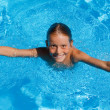 Child on summer vacation in swimming pool — Stock Photo #6361534