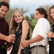 Champagne party group - Stock Photo