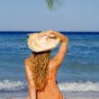 Summer beach vacation woman — Stock Photo