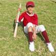 Baseball player child - Stock Photo