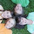 gruppo felice di campo estivo per bambini — Foto Stock