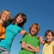 Group of kids at summer school or camp - Stock Photo