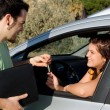 Driving test or car hire or new vehicle sale — Stock Photo