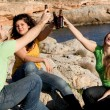 Underage teens drinking alcohol — Stock Photo