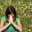 Stock Photo: Child with allergy, hayfever or cold