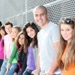 Diverse group of students or teens — Foto de Stock