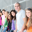 Diverse group of students or teens — Stockfoto