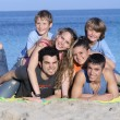 Extended family kids on holiday or vacation — 图库照片