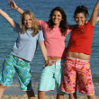 Teens at the beach - Foto Stock