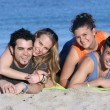 Young couples on vacation - Stockfoto