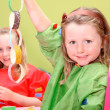 Children or kids playing art and craft - Stockfoto