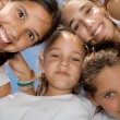 Happy smiling youth group of kids - Stock Photo