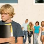 terreur de l'école, groupe intimidation Leroy kid — Photo