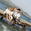 Happy family summer vacation — Stockfoto