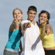 Teens pointing — Stock Photo #6361910