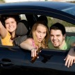 Underage drinking and driving, - ストック写真