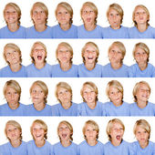 Different facial expressions — Stock Photo