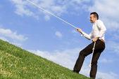 Business concept - uphill struggle — Stock Photo