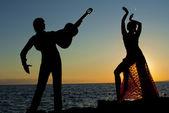 Spanish dancers in spain — Stock Photo