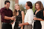 Champagne party group — Stock Photo