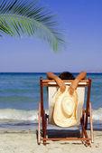 Summer beach vacation woman — Stock Photo