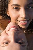 Multi racial couple of teens — Stock Photo
