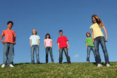 Group of diverse kids — Stock Photo