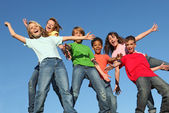 Děti na táboře glee club — Stock fotografie