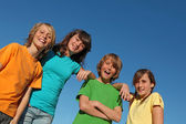 Group of kids at summer school or camp — Stock Photo