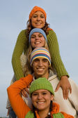 Beautiful smiles happy teens — Stock Photo